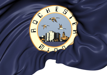 Flag of Rochester, USA.