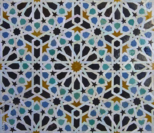 Fotobehang Marokko Moroccan Zellige Tile Pattern