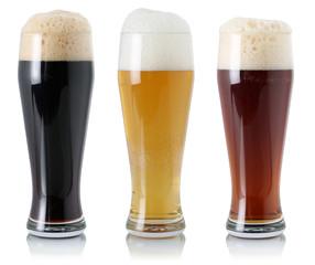 Biere im Glas mit Schaumkrone