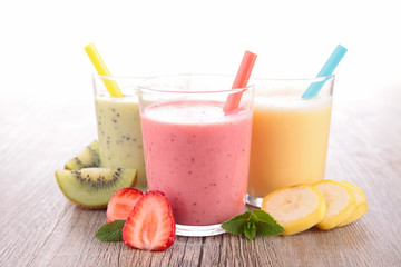 assortment of milkshake-smoothie