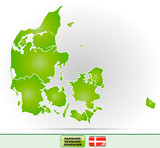Karte von Daenemark