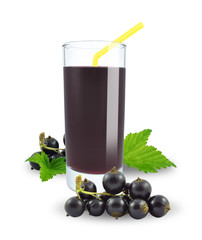 fresh blackcurrant juice