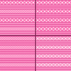 pink polka dot striped pattern