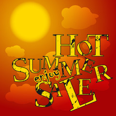 sale poster hot summer