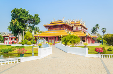 Chinese temple in bang pa-in at ayutthaya Thailand