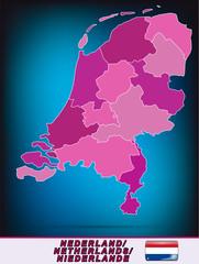 Grenzkarte der Niederlande