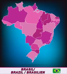 Grenzkarte von Brasilien