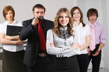 Young business team
