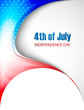 4th of july american independence day stylish beautiful wave vec