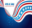 abstract design american independence day creative stylish wave