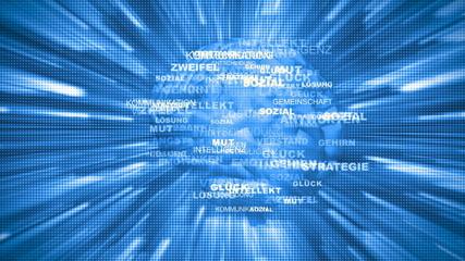 Digitales Gehirn Hintergrund 2