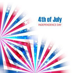 4th of July, American Independence Day vector illustration