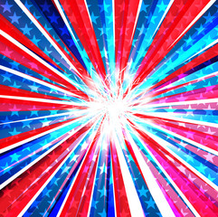 4th of july american independence day flag celebration swirl wav