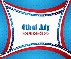 American independence day 4th of july fantastic wave background