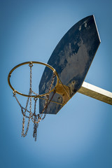 Basketball hoop at public park
