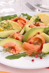 avocado and salmon