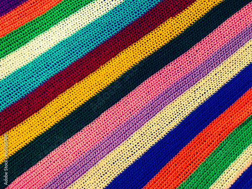 Multicolored knitted carpet for background