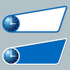 two blue boxes for any text with watches