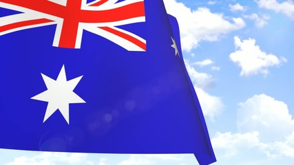 Waving Flag of Australia