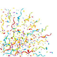 Party background with color confetti