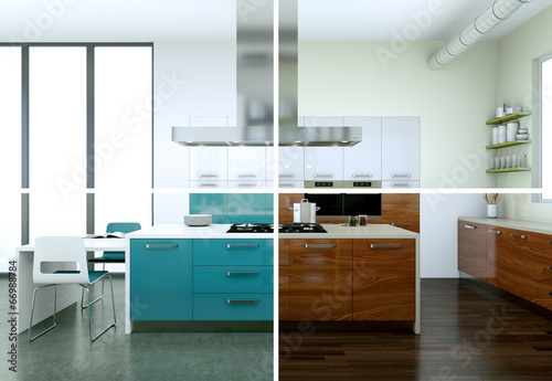 canvas print picture modern Kitchen Interior Design