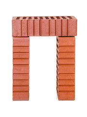 Three perforated bricks