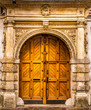 canvas print picture - Architectural elements of the old European-style doors