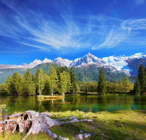 The snow-capped mountains - 66989340