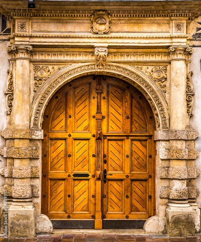 canvas print picture Architectural elements of the old European-style doors
