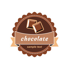 Chocolate ice cream label.