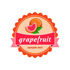 Grapefruit fresh labels design.
