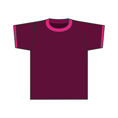 Men's T-shirt vector template.