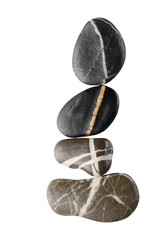 stones with white stripes arranged to a curve