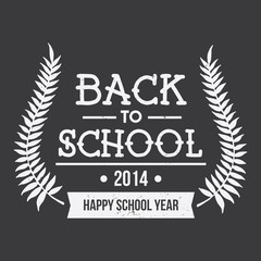 Back to School Crest Typographic Element
