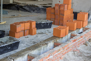 Clay hollow block for foundation walls