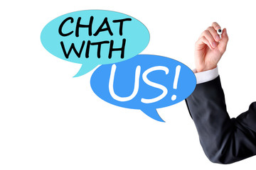 Chat with us concept