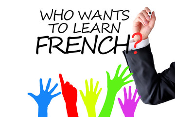 Learning French language concept