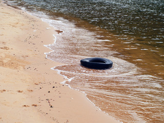 Tire on Beach