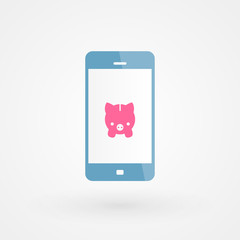 Smartphone and piggy