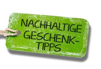 Nachhaltige Geschenktipps Label
