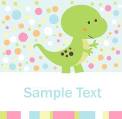 A cute little dinosaur