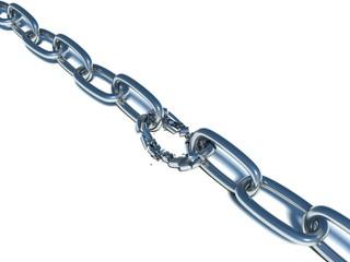 broken chain. weakest link
