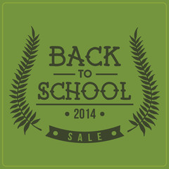 Back to School Sale Crest Typographic Element
