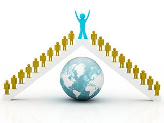 Conceptual image of global teamwork