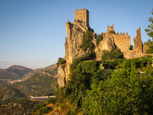 Ancient castle on the rock, La Iruela, Andalusia, Spain