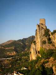 Ancient castle at sunset, La Iruela, Andalusia, Spain
