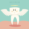 tooth extraction, healthy white teeth vector illustration