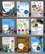 Set of Presentation of Flyer Design Content Background.