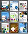 Zdjęcia na płótnie, fototapety, obrazy : Set of Presentation of Flyer Design Content Background.