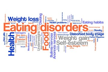 Eating disorder concept - word cloud